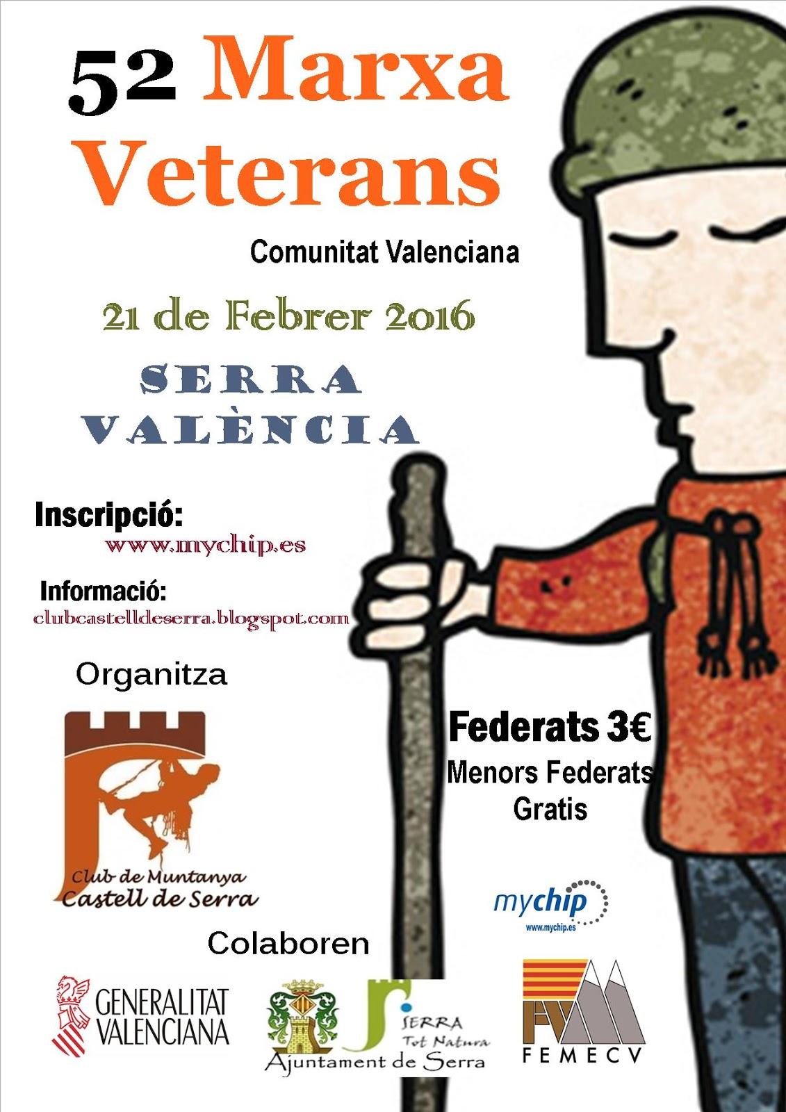 Cartel Marxa Veterans para FEMECV 2016